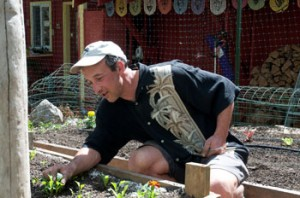 gardening at an opal home