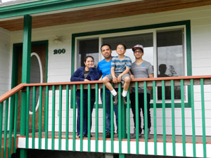 family at scattered site residence