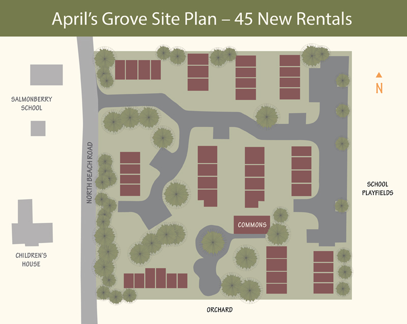 opal april's grove site plan
