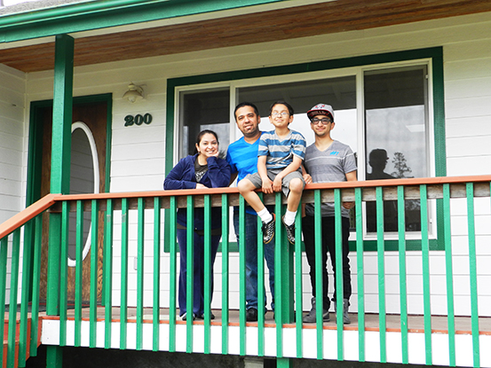 family buys affordable home